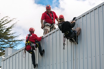 picture of sione on roof training