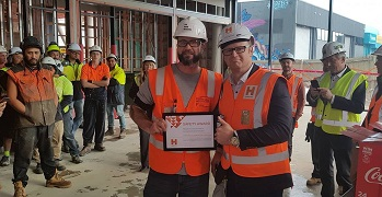 picture of award on site