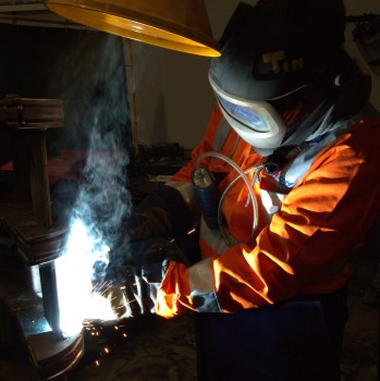 pic of man welding